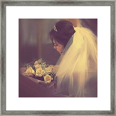 #love #marriage #family #wedding #day Framed Print