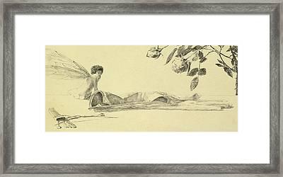 Love Framed Print by Max Klinger