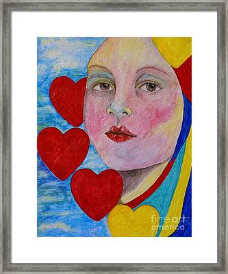 Framed Print featuring the painting Love Me Do  by Jane Chesnut