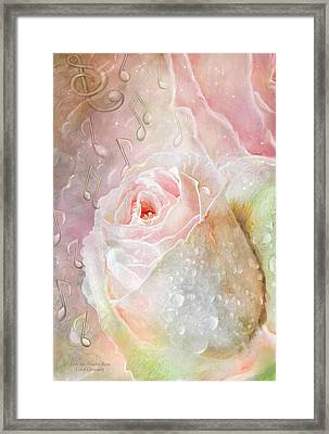 Love Me Tender - Elvis Rose Framed Print by Carol Cavalaris