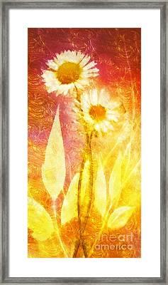 Love Me Tender Gold Framed Print by Mo T