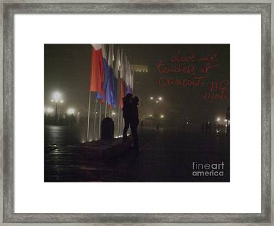 Love Me Tender - Power Of Love At Cracow . Framed Print by  Andrzej Goszcz