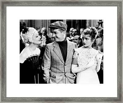Love Me Tonight, From Left Myrna Loy Framed Print by Everett