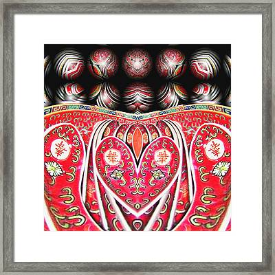 Love Means Keeping It All Together Framed Print by Wendy J St Christopher