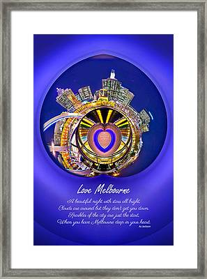 Love Melbourne Framed Print by Az Jackson