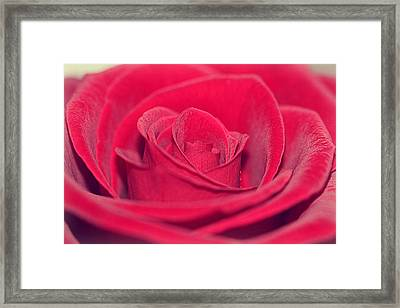Love Message Framed Print by Heike Hultsch