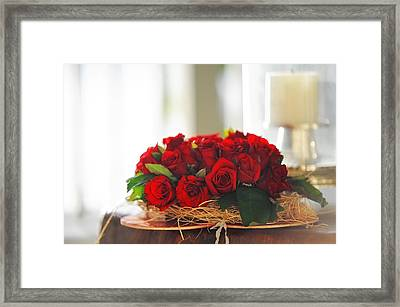 Love Message Framed Print