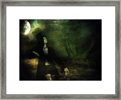 Love Moonlight Song Of Vampiress Framed Print by Jenny Rainbow