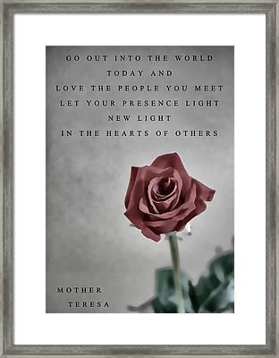 Love Mother Teresa Framed Print