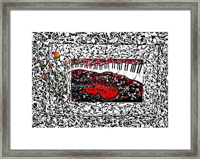 Love Music Memories Original Acrylic Painting  Framed Print