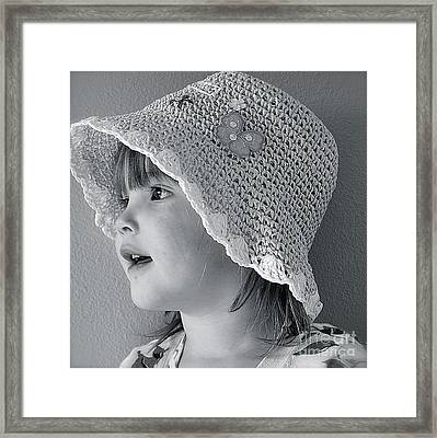 Framed Print featuring the photograph Love My Hat by Barbara Dudley