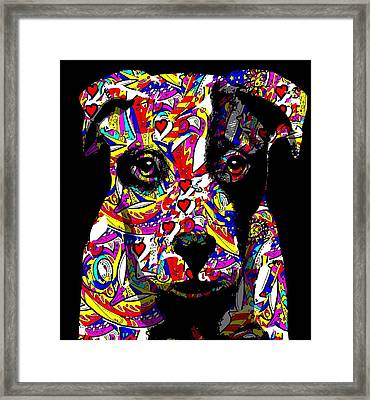 Love My Pup Framed Print by Cindy Edwards