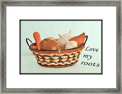 Love My Roots Framed Print by Kae Cheatham
