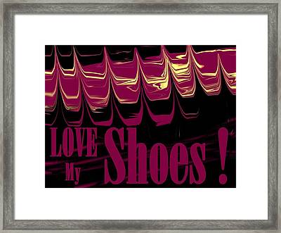 Love My Shoes  Number 1 Framed Print by Diane Strain