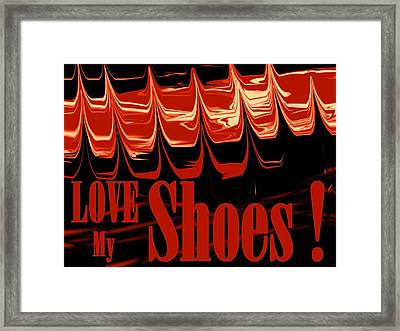 Love My Shoes  Number 10 Framed Print by Diane Strain