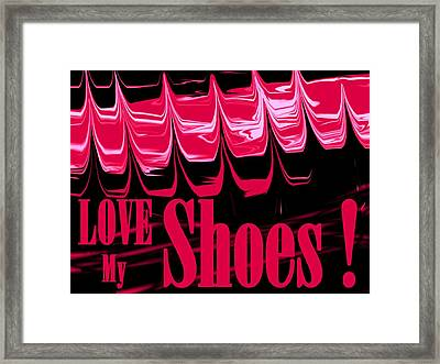 Love My Shoes  Number 11 Framed Print by Diane Strain