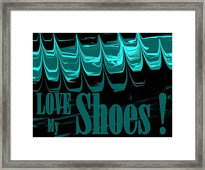 Love My Shoes  Number 12 Framed Print by Diane Strain