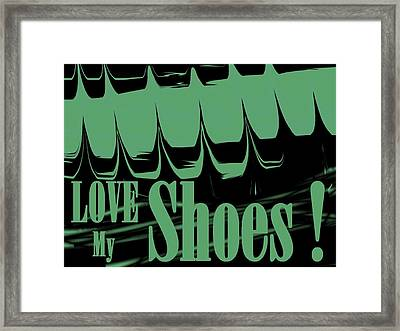 Love My Shoes  Number 14 Framed Print by Diane Strain