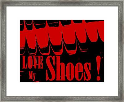 Love My Shoes  Number 15 Framed Print by Diane Strain