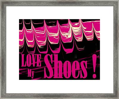 Love My Shoes  Number 2 Framed Print by Diane Strain