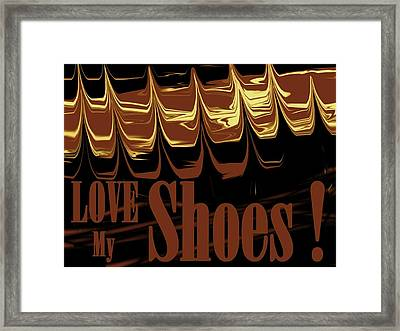 Love My Shoes  Number 4 Framed Print by Diane Strain