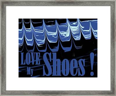 Love My Shoes  Number 5 Framed Print by Diane Strain