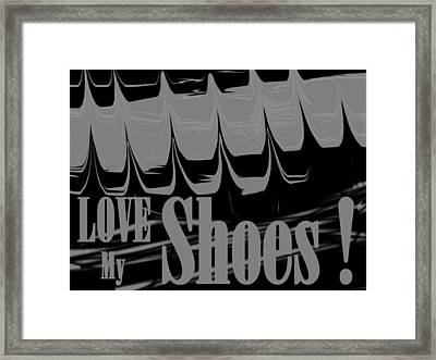 Love My Shoes  Number 7 Framed Print by Diane Strain