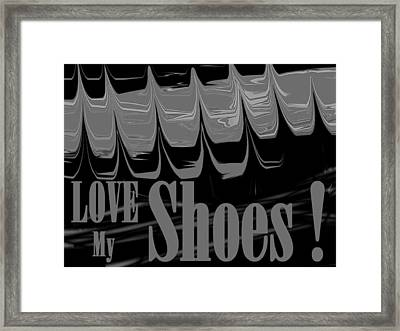 Love My Shoes  Number 8 Framed Print by Diane Strain