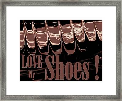Love My Shoes  Number 9 Framed Print by Diane Strain