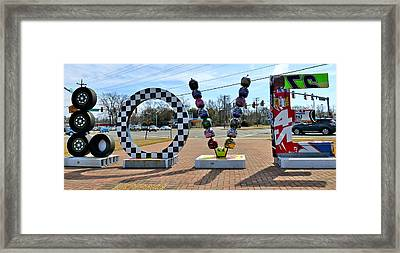 Love Nascar Framed Print