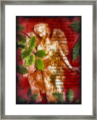 Love Never Fails 3 Framed Print