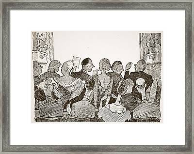 Love Of Arriving Late At Theatrical Framed Print