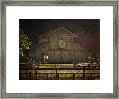 Love Of Country Vintage Art By Jordan Blackstone Framed Print by Jordan Blackstone