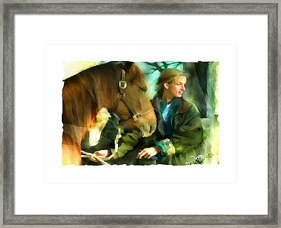 Love Of Horses Framed Print by Bob Salo