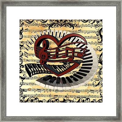 Love Of Music  Framed Print