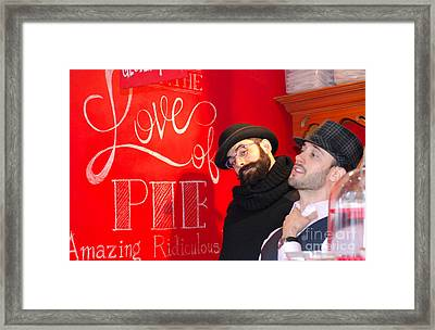 Love Of Pie Framed Print by Andrea Simon