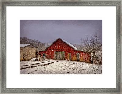 Framed Print featuring the photograph Love Old Barns by Brenda Bostic