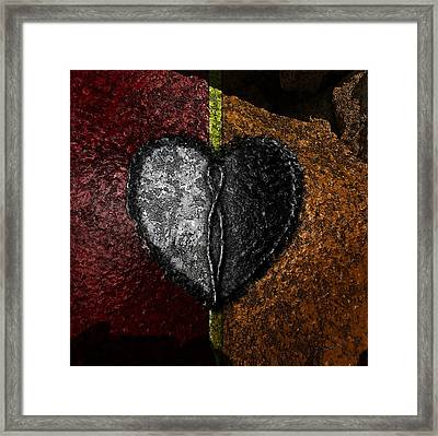 Love On The Line Framed Print