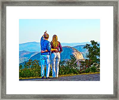 Love On The Rock Framed Print