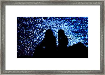 Framed Print featuring the photograph Love On The Rocks by Mike Flynn
