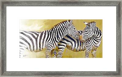 Love On The Savanna Framed Print
