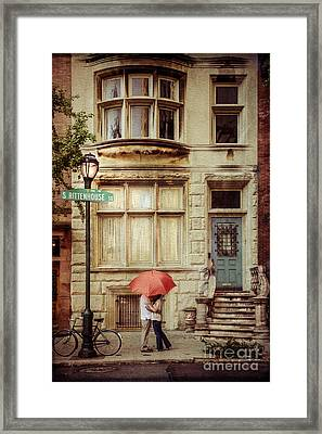 Love On The Square Framed Print