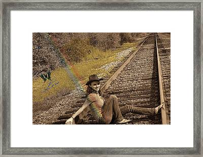 Love On The Tilted Track Framed Print by Sherry Gombert