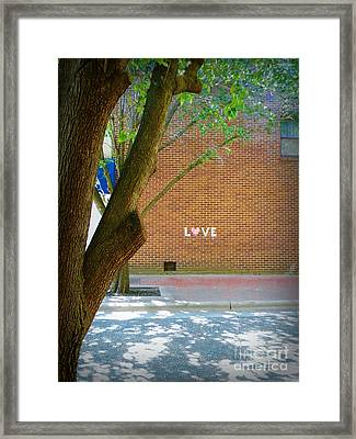 Love On The Wall Framed Print by Lorraine Heath