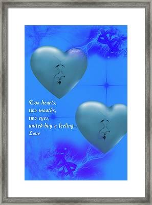 Framed Print featuring the digital art Love On Valentine's Day by Angel Jesus De la Fuente