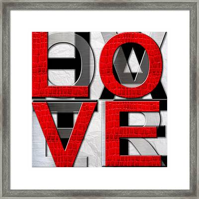 Love Over Hate Framed Print