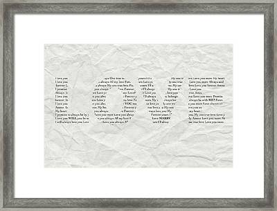 Will You Marry Me? Hidden Message 1 Framed Print by Christine Aylen