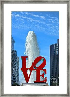 Love Park Framed Print by Olivier Le Queinec