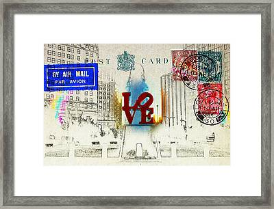 Love Park Post Card Framed Print