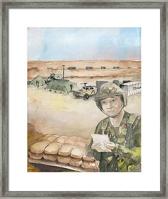 Love Parted By Mars Framed Print